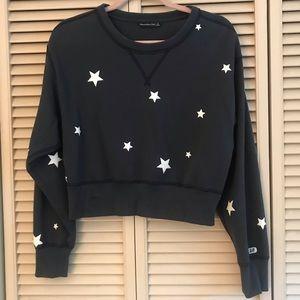 Abercrombie star cropped sweatshirt